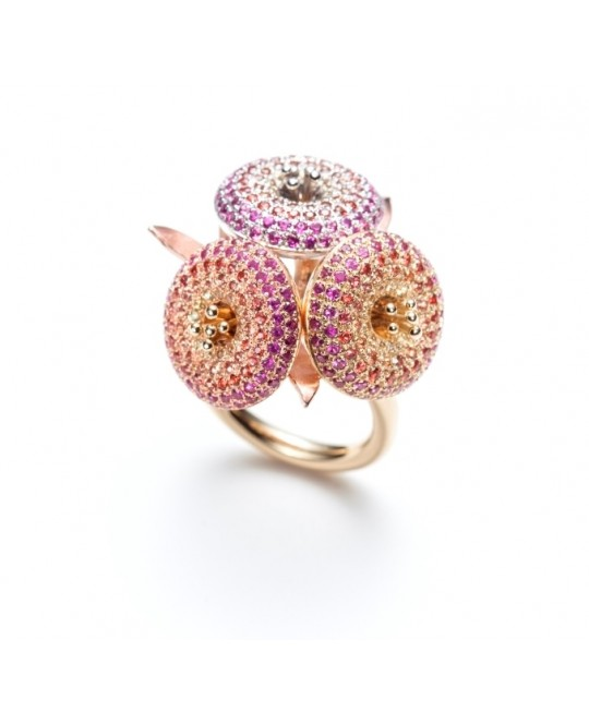 CORINDIA GOLD RING WITH SAPPHIRES BY SERAFINO