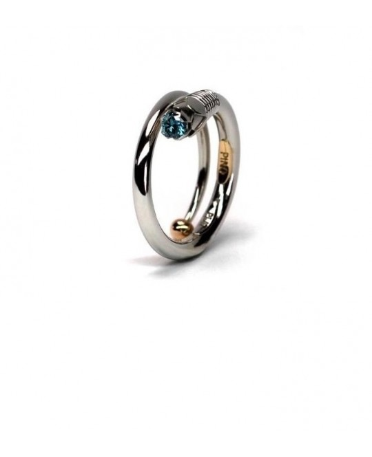 PURE METAMORPHOSIS RING // PLATINUM AND YELLOW GOLD RING BY CLAUDIO PINO